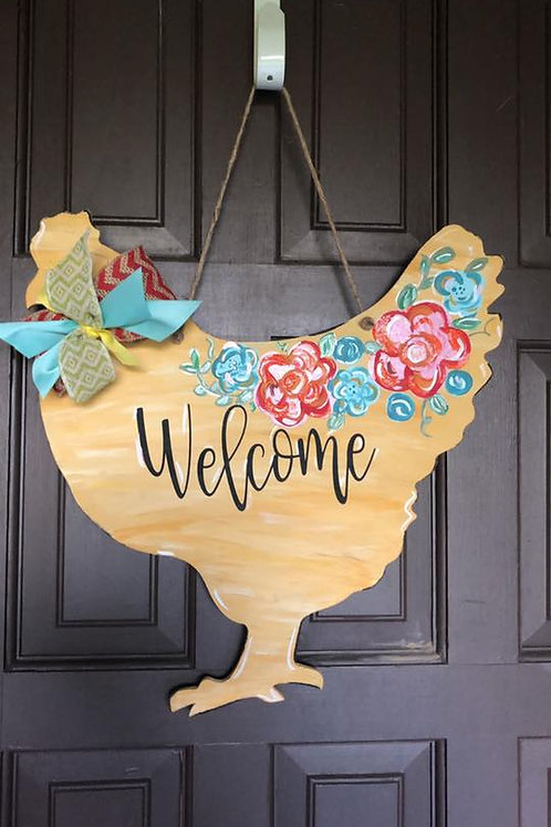 Floral Welcome Hen