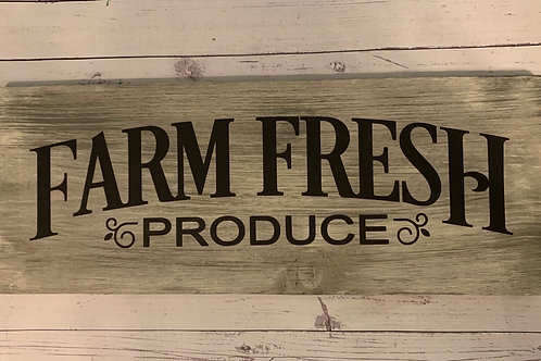 Farm Fresh Produce sign