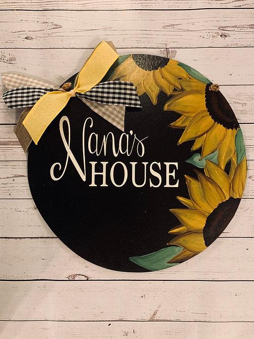 Sunflower Circle Door hanger