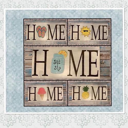 Rectangular HOME interchangeable sign