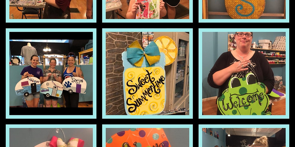 Open Studio Summer Door Hangers (1)