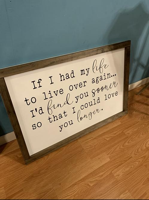 "Love You Longer sign 12x24"""