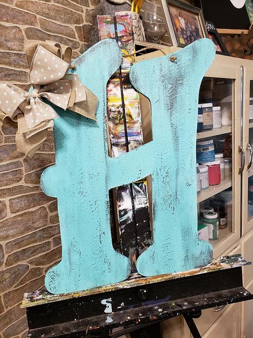 Rustic Initial Door Hanger