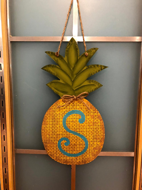 Pineapple Monogram Door Hanger