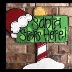 Santa Stop Here BLANK