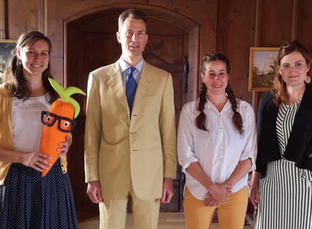GemüseAckerdemie auf Besuch im Schloss Vaduz