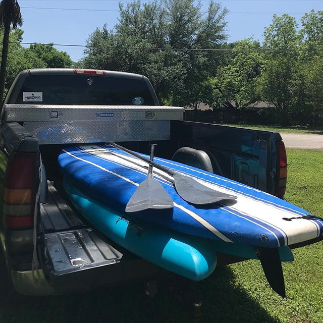 Paddle boards loaded up and ready to go