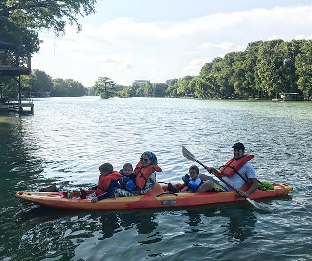 A family that kayaks together, stays tog
