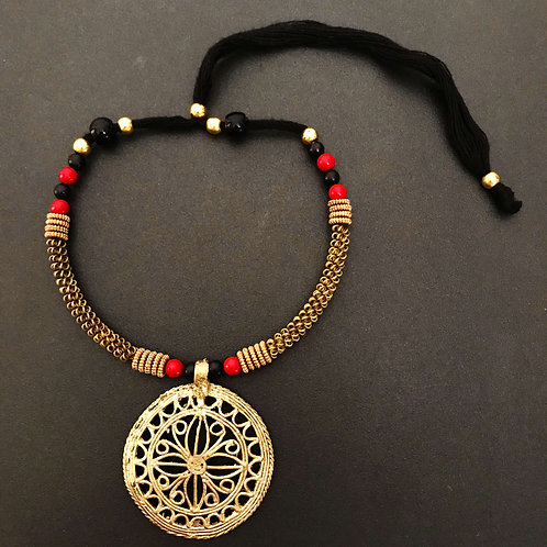 """Ethnic """"Dhokra"""" Handcrafted Jewellery Necklace"""