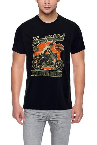 Forever Two Wheel Unisex Rider Black T shirt