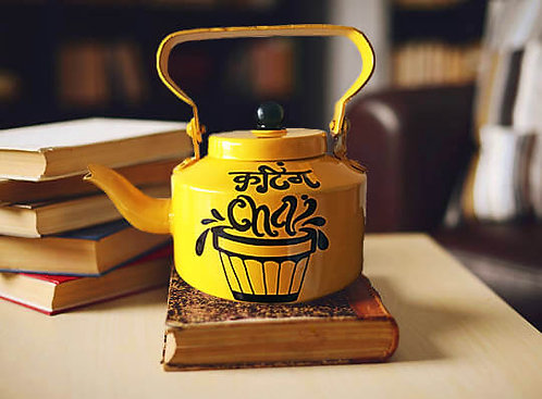 Cutting Chai (Hand Painted Kettle) _ A Decor Item