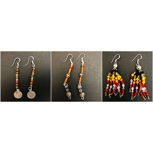 Handcrafted Traditional Earrings Set of 3 (S43)