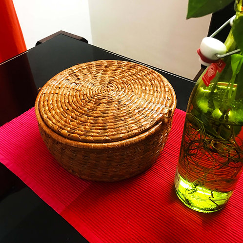 Eco-friendly Sabai Grass Handcrafted Storage Basket