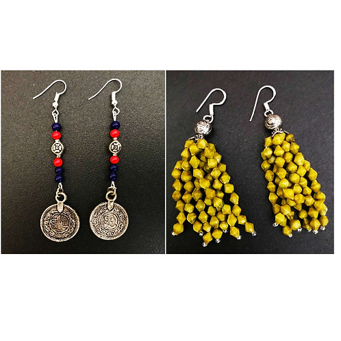 Handcrafted Traditional Earrings Set of 2 (S46)
