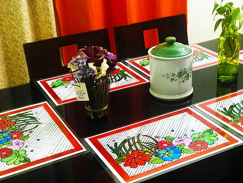 Hand-painted and Laminated Artwork Table Mats (Set of 6)