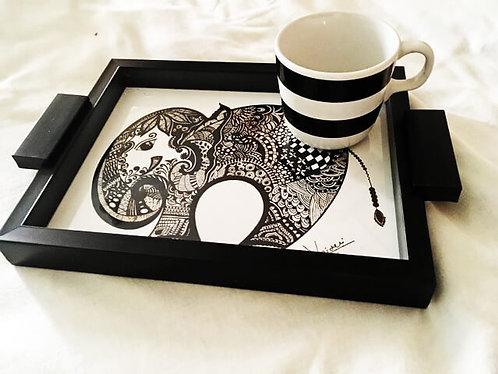 """""""The Royal Indian Elephant"""" Hand Painted Serving Tray"""