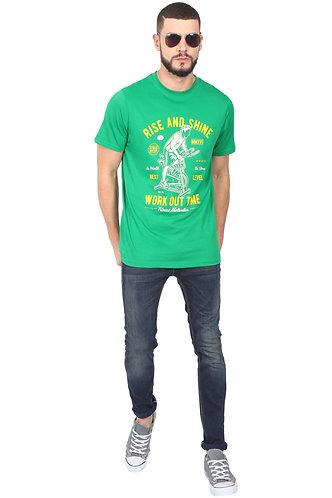 Rise & Shine Unisex Green T Shirt