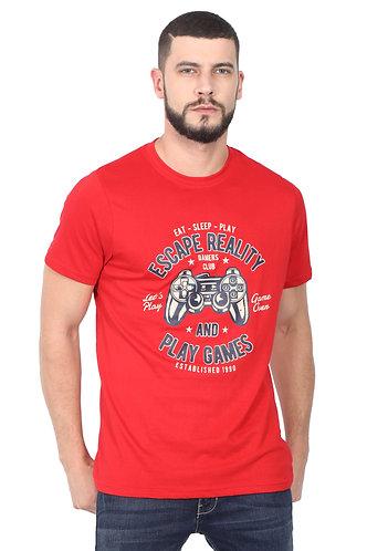 Eat Sleep Play Premium Unisex Red T Shirt