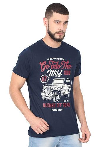 Into the Wild Premium Unisex Blue T Shirt