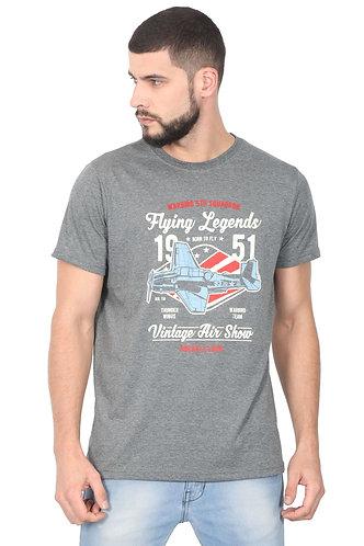 Flying Legends Unisex Smart Melange T Shirt