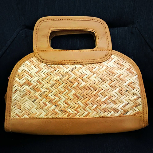 Stylish Handcrafted Eco-friendly Cane Clutch Hand-Bag