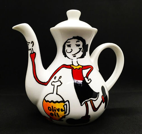The Olive Oyl - Oil Dispenser (Hand Painted)