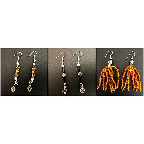 Handcrafted Traditional Earrings Set of 3 (S41)