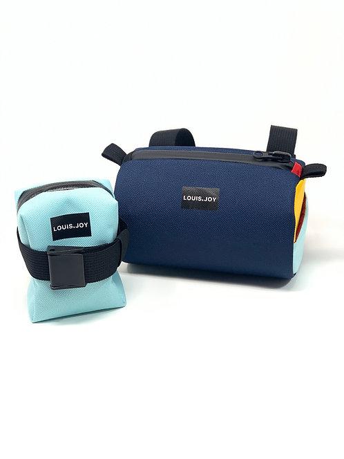 Bio Hack Aqua Color Block Handlebar Bag & Saddle Bag Duo