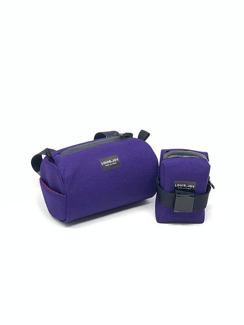 Purple Handlebar Bag & Saddle Bag Duo