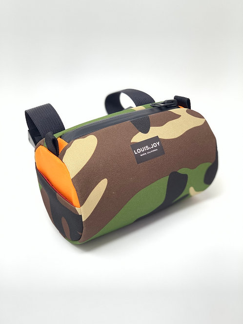 Camo/Orange Handlebar Bag