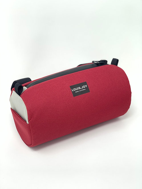Wine/Silver Handlebar Bag
