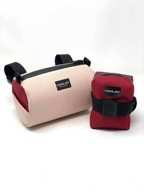 Color Block Handlebar Bag & Saddle Bag Duo