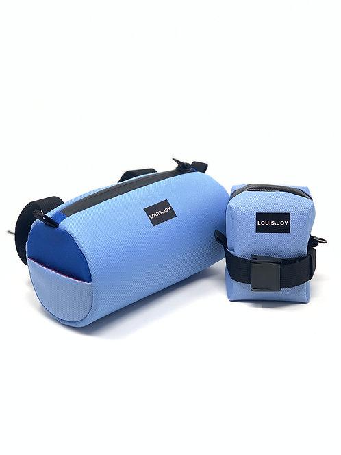 Periwinkle/Royal Blue Handlebar Bag & Saddle Bag Duo