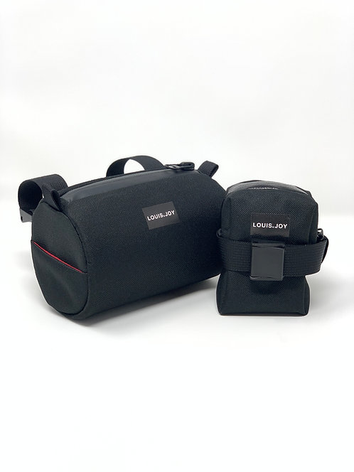 Black Handlebar Bag & Saddle Bag Duo