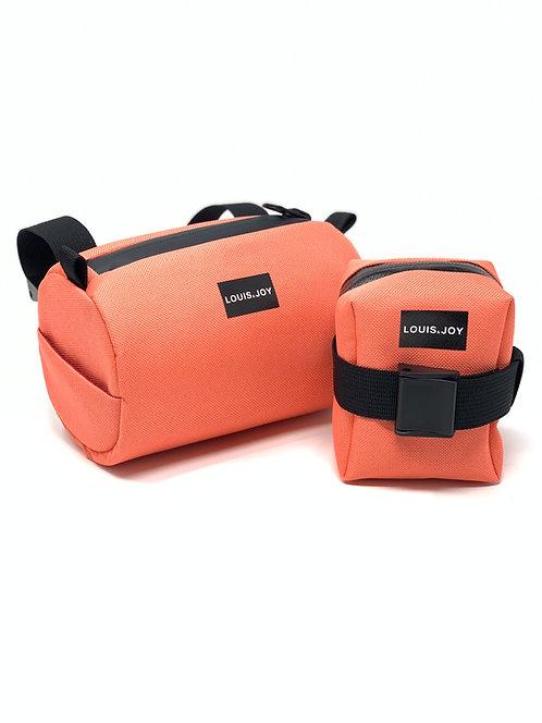 Coral Handlebar Bag & Saddle Bag Duo
