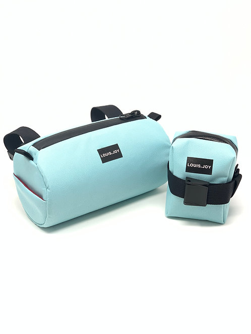Aqua Handlebar Bag & Saddle Bag Duo