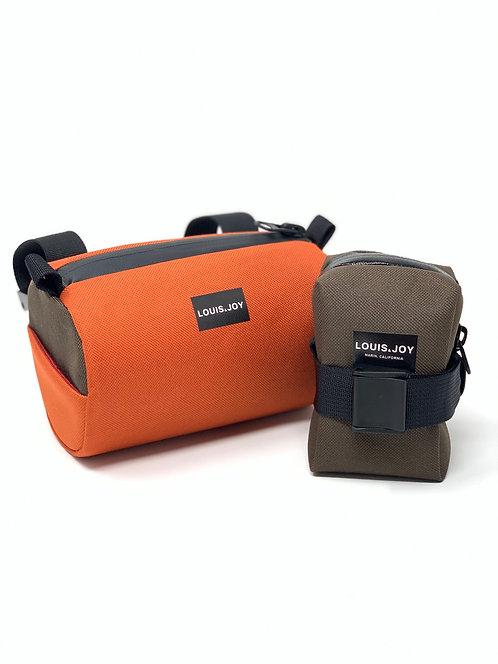 Rust/Brown Handlebar Bag & Saddle Bag Duo