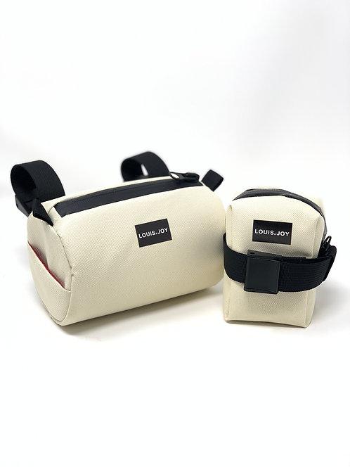 Ivory Handlebar Bag & Saddle Bag Duo
