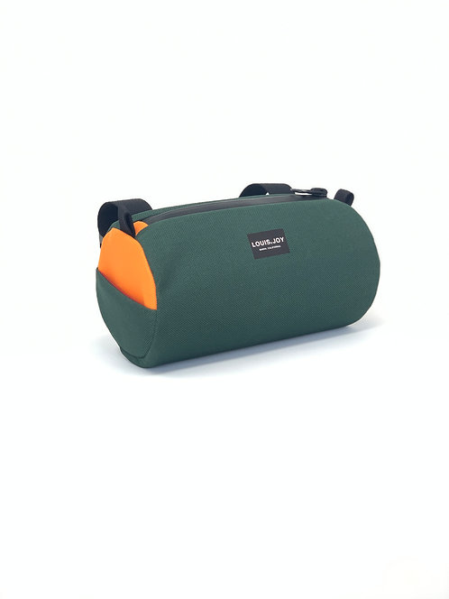 Forest/Orange Handlebar Bag