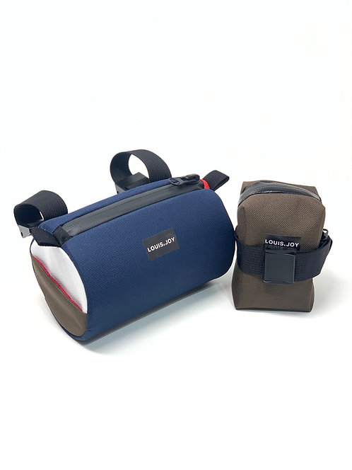 Bio Hack Color Block Handlebar Bag & Saddle Bag Duo