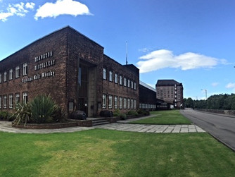 Deanston. Old Cotton Factory turned to liquid whisky gold.