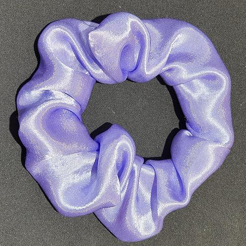 Chouchou en satin violet