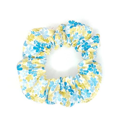 Chouchou jaune et bleu