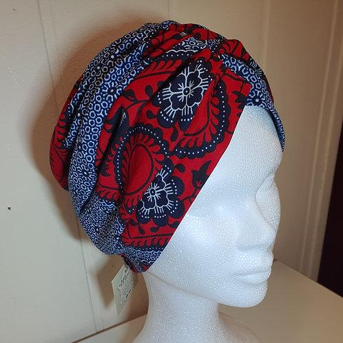Bandeau turban en wax