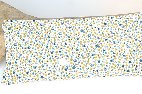 Pochette en coton bleu et jaune