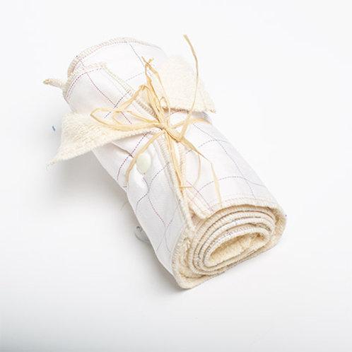 5 Essuie-tout lavables Blanc a carreaux