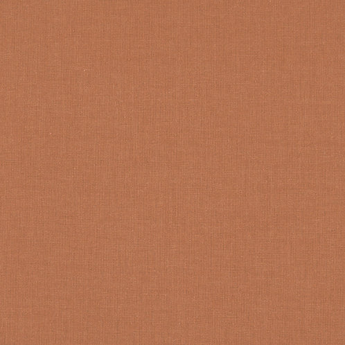 Tissus coton uni caramel