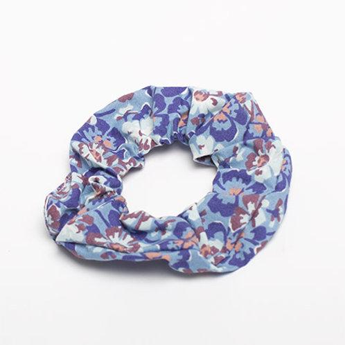 Chouchou BLEU fleur bleu