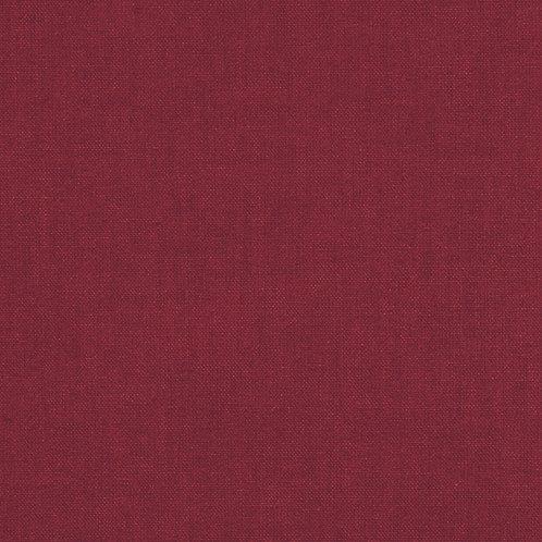 Tissus coton uni rouge bordeaux