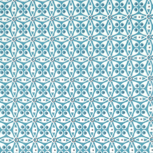 Tissus coton bleu